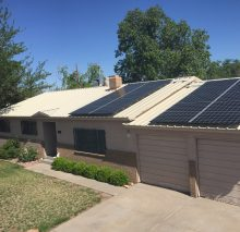 Another low and tight installation over a metal roof in the Albuquerque heights.