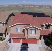 14 panel system in northwest Albuquerque on a second story shingle roof.