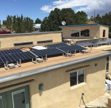 12-panel system on a flat roof in Santa Fe, NM.